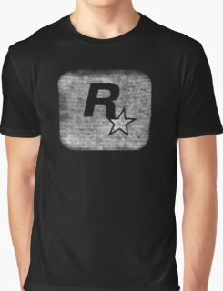 °GEEK° Rockstar B&W Logo Graphic T-Shirt