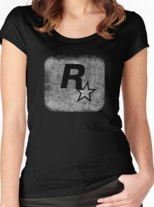 °GEEK° Rockstar B&W Logo Women's Fitted Scoop T-Shirt