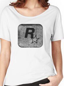 °GEEK° Rockstar B&W Logo Women's Relaxed Fit T-Shirt