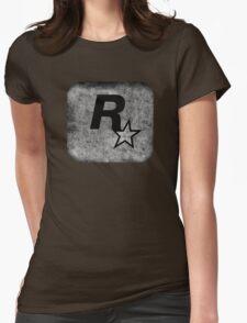 °GEEK° Rockstar B&W Logo Womens Fitted T-Shirt