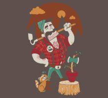 Green Thumberjack One Piece - Short Sleeve
