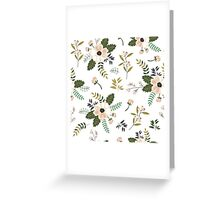 White and pink vintage Greeting Card