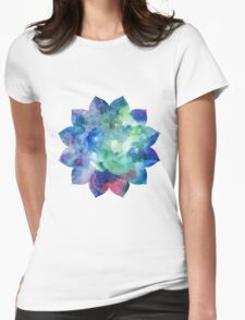 Lotus Flower 12 petals Womens Fitted T-Shirt
