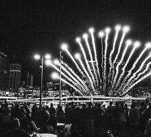 Lantern Festival Fireworks by strangerandfict