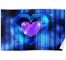 Galaxy Heart Container Poster