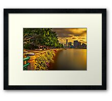 Rivers Edge... Framed Print