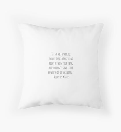 Augustus Waters Throw Pillow Throw Pillow