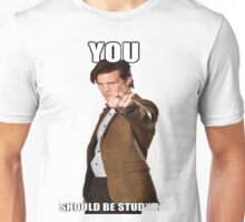 Eleventh Doctor-Studying Unisex T-Shirt