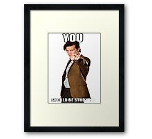 Eleventh Doctor-Studying Framed Print