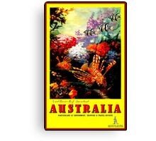 """AUSTRALIA GREAT BARRIER REEF"" Travel Print Canvas Print"