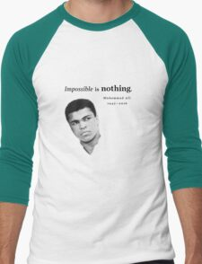 Muhammad Ali - Impossible is Nothing Men's Baseball ¾ T-Shirt