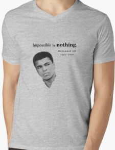 Muhammad Ali - Impossible is Nothing Mens V-Neck T-Shirt