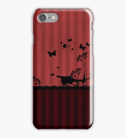 Pheasant and Butterflies VRS2 iPhone Case/Skin