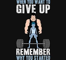 GYM - Never Give Up Unisex T-Shirt