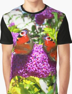 Butterflies in the Bushes Graphic T-Shirt