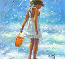 BEACH BABE LITTLE BEACH GIRL by VickieWade