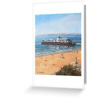 Bournemouth Pier summer morning from cliff top Greeting Card