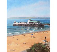 Bournemouth Pier summer morning from cliff top Photographic Print