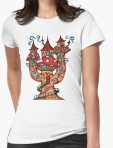 Mushroom House IIII Womens Fitted T-Shirt