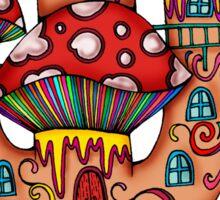 Mushroom House IIII Sticker