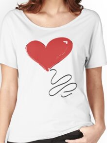 Red Balloons for Ryan - Heart Balloon Women's Relaxed Fit T-Shirt