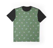 Scarabs - blue on green Graphic T-Shirt