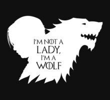 Arya Stark- Im a Wolf (White) by mersanto