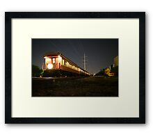 AMERICANA - Grapevine Texas Vintage Train Framed Print