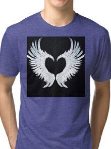 Angel wings heart Tri-blend T-Shirt