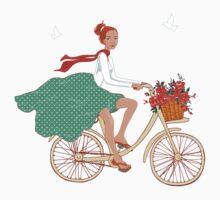 Girl with bike by yaskii