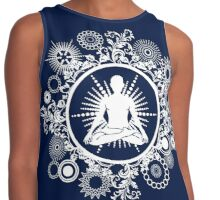 Inner Being - white silhouette Contrast Tank