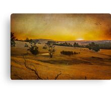 Fiery Night at the Peninsula Canvas Print