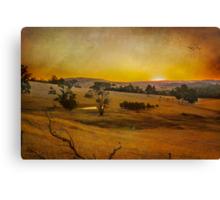 Fiery Night at the Peninsula Canvas Print