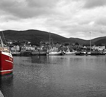 Red Fishing Trawler  by aidan  moran