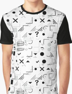 Symboshuffle(white) Graphic T-Shirt