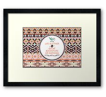 Aztec geometric seamless  colorful pattern Framed Print
