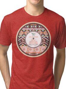 Aztec geometric seamless  colorful pattern Tri-blend T-Shirt