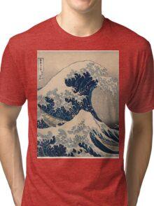 The Great Wave of Kanagawa - Katsushika Hokusai Tri-blend T-Shirt