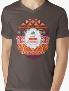 Native american seamless tribal pattern with geometric elements Mens V-Neck T-Shirt