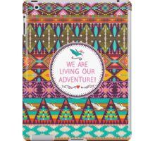 Native american seamless tribal pattern with geometric elements iPad Case/Skin