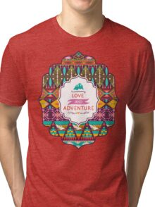Native american seamless tribal pattern with geometric elements Tri-blend T-Shirt