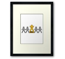 successful winner champion idea Framed Print