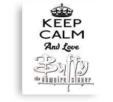 Love Buffy  Canvas Print