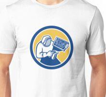 Beekeeper Honey Farmer Bee Smoker Circle Retro Unisex T-Shirt