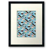 sweet things (blue) Framed Print