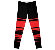 Red and Black Stripes Leggings