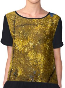 Ginkgo - Beautiful Autumn Gold Chiffon Top
