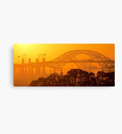 Steel Sunset Canvas Print