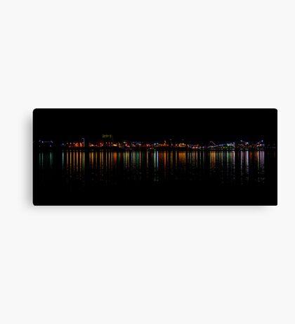 An Industrial Eyesore Lights Up Canvas Print
