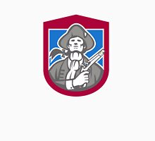 American Patriot With Flintlock Shield Retro Unisex T-Shirt